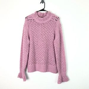 Asos Design Dusty Pink Loose Chunky Knit Sweater